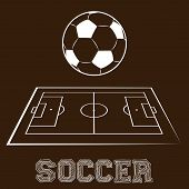 Постер, плакат: soccer