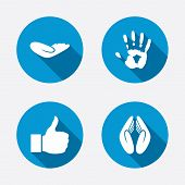 stock photo of priest  - Hand icons - JPG