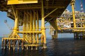 stock photo of offshore  - Offshore oil and gas production and exploration business - JPG