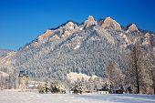 foto of pieniny  - Winter Landscape In Pieniny Mountains Three Crowns Poland - JPG