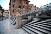 stock photo of piazza  - Spanish square with Spanish Steps in Rome Italy piazza Spagna - JPG