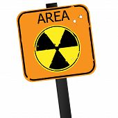 stock photo of fukushima  - Vector sign of radiation isolated on white background - JPG