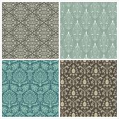 foto of pattern  - Set of damask patterns - JPG