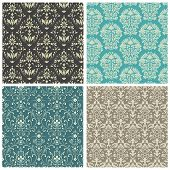 image of pattern  - Set of damask patterns - JPG