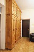 image of wardrobe  - Old wooden wardrobe - JPG