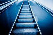 image of escalator  - escalator of modern office building - JPG