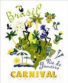 picture of carnival rio  - Vector illustration of Brazilian Carnival - JPG