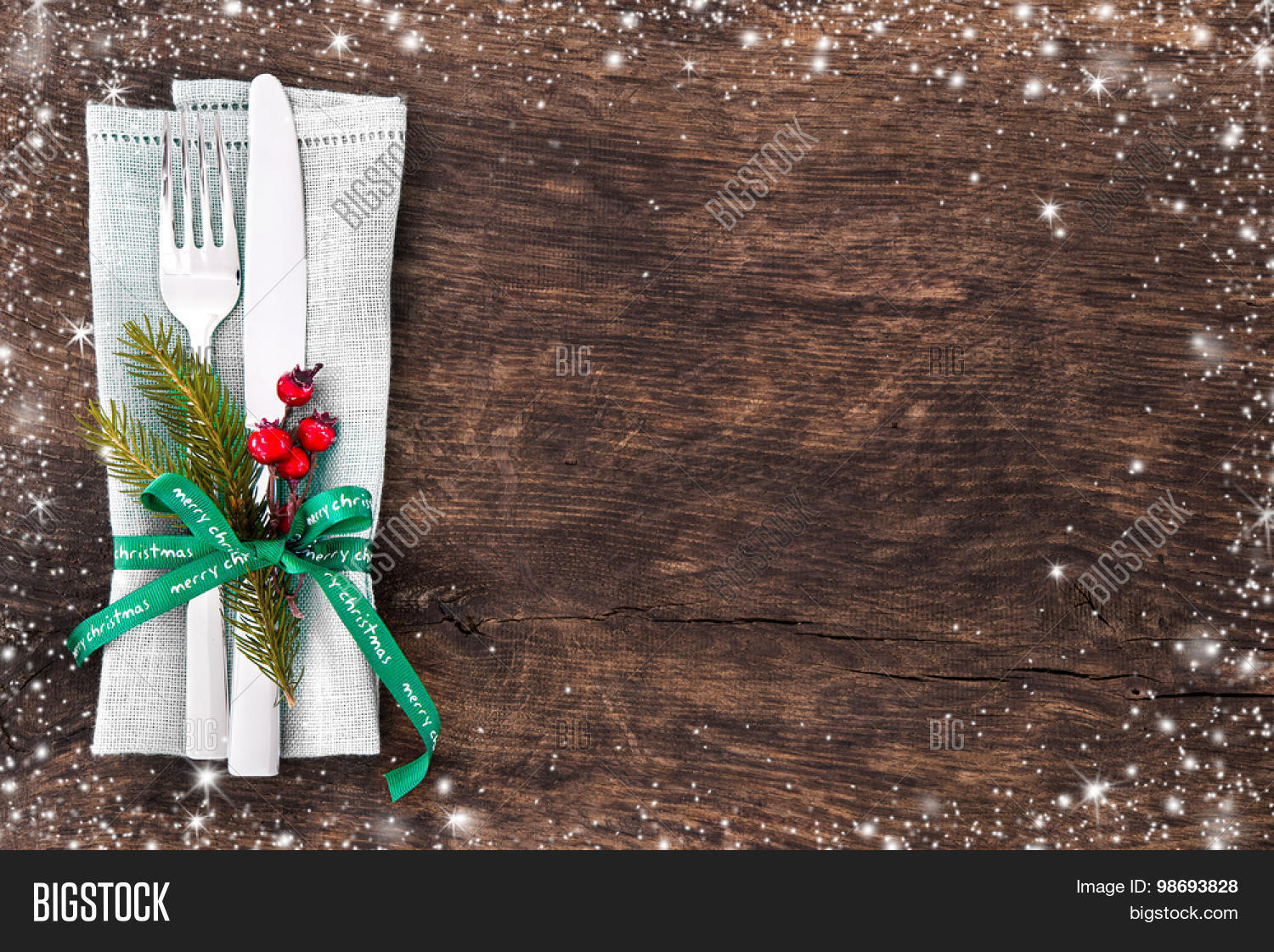 Christmas Table Place Setting Image & Photo | Bigstock
