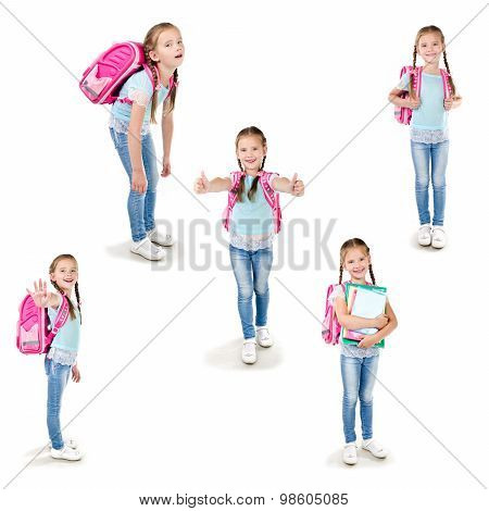 Collection Of Photos Smiling Schoolgirl
