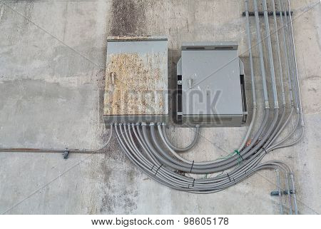 Load Center Cabinet In Electrical System At External Building