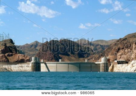 Hoover Dam Viewed From Lake Mead