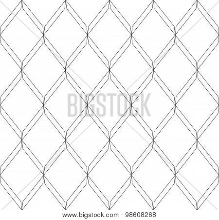 Black And White Geometric Seamless Pattern Modern Stylish With Line, Abstract Background.
