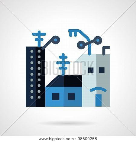 Apartments for rent flat vector icon