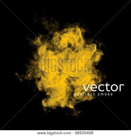 Vector Illustration Of Yellow Smoke
