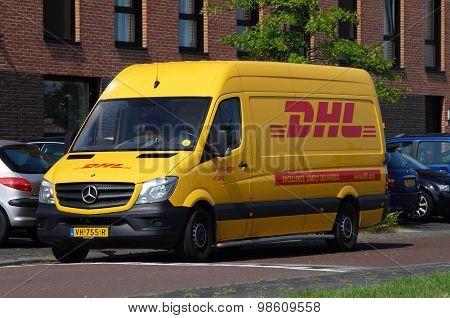 DHL delivery delivery van - Mercedes Sprinter