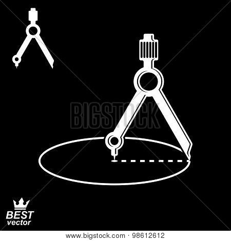 Three-dimensional cog wheel with two spanners crossed vector illustration. 3d engineering design ele