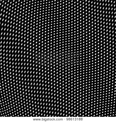 Moire pattern, op art background. Relaxing hypnotic backdrop with geometric black lines. Abstract