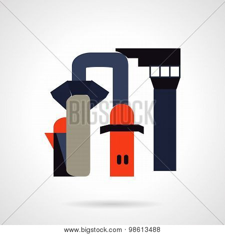 Chemical industry flat vector icon