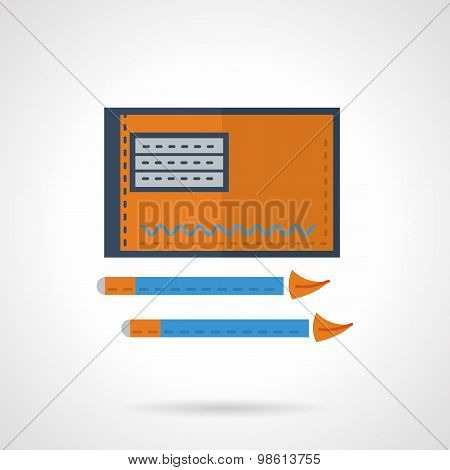 Drawing flat vector icon