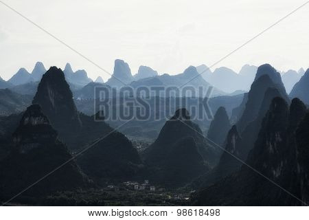 The Karst Mountain Tops