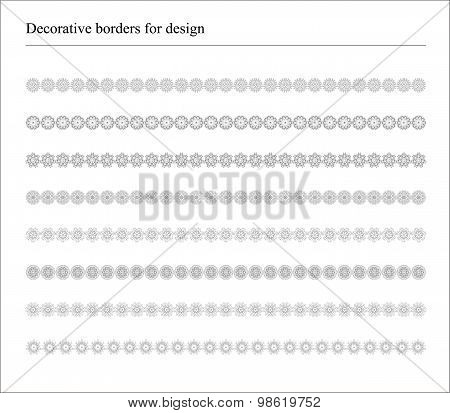Decorative Borders for Banners and Ethnic Decorations