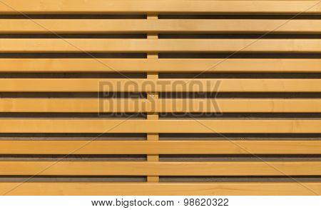 Yellow Wooden Lattice