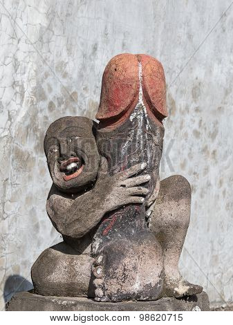 Erotic Sculpture In Bali, Indonesia