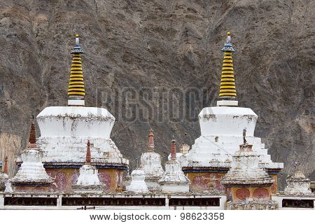 Lamayuru Buddhist Monastery. Ladakh In The North India.
