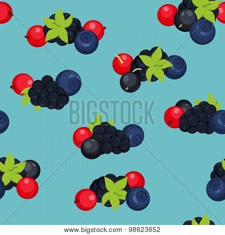 Berries seamless pattern