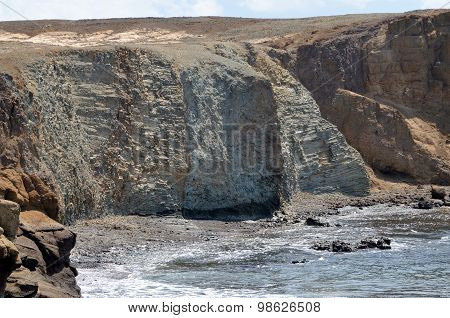 Sculptured Cliff Due To Erosion