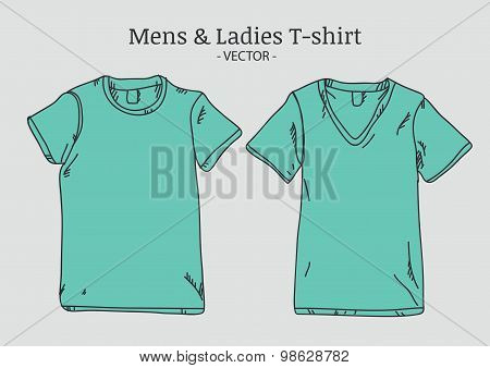 Vector T-Shirt Mockups Illustration