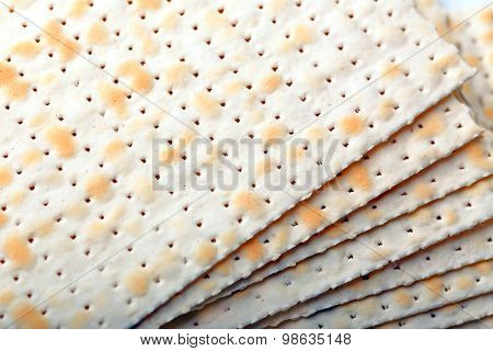 Matzo for Passover close up