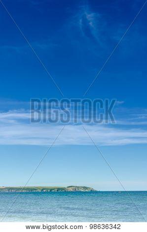 Gribbin Head Across St Austell Bay Vertical