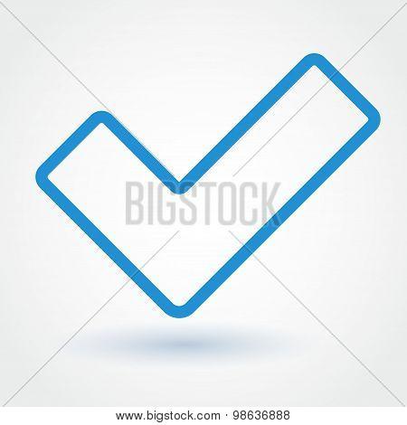 Tick flat icon