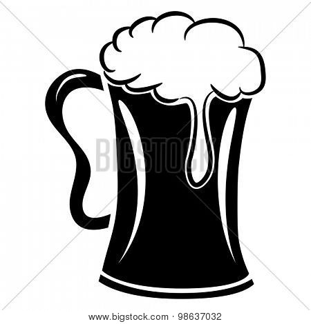 An image of a mug of beer with froth.