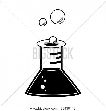 An image of a laboratory flask.
