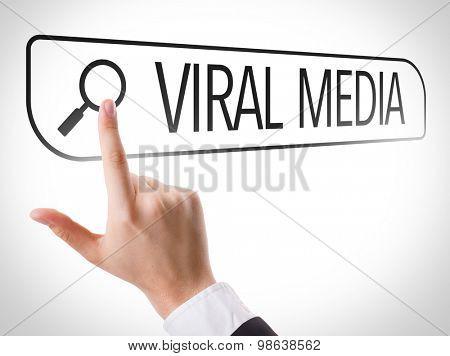 Viral Media written in search bar on virtual screen