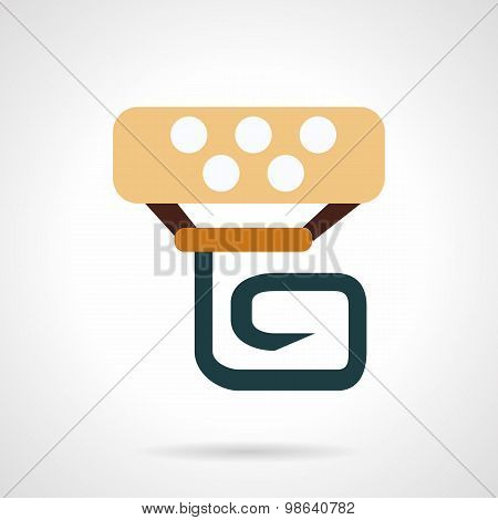 Handlebar panel flat vector icon
