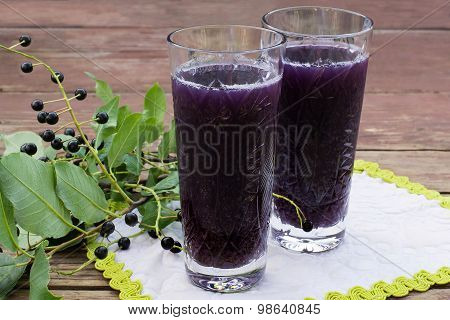 A Refreshing Drink With The Addition Of Bird Cherry Berries