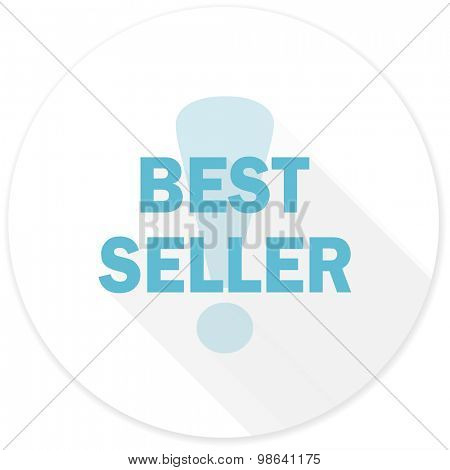 best seller flat design modern icon with long shadow for web and mobile app