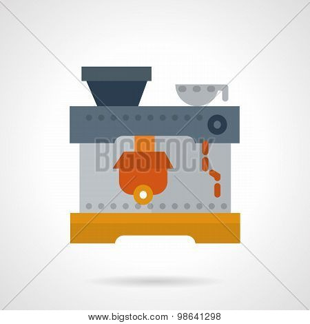 Coffee machine flat vector icon