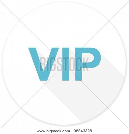 vip flat design modern icon with long shadow for web and mobile app