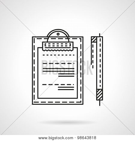 Business document line vector icon