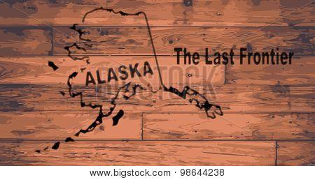 Alaska Map Brand