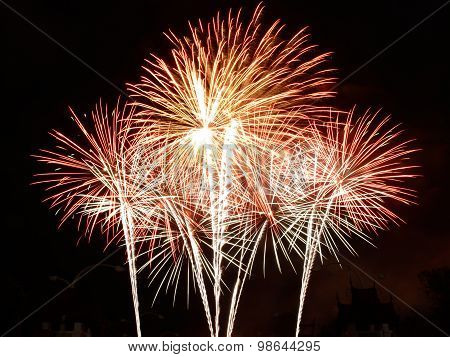 Beautiful Fireworks In Celebrate Day