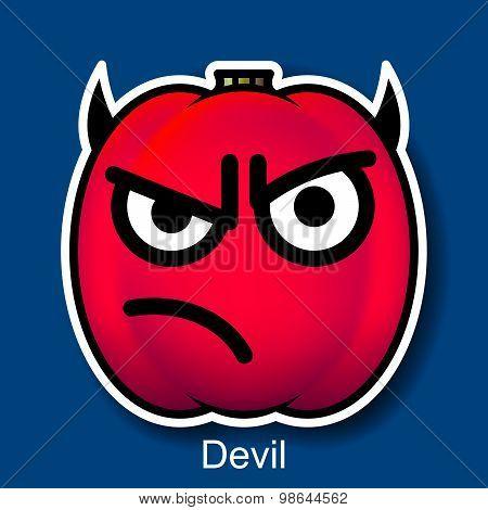 Vector Halloween Smiley Devil