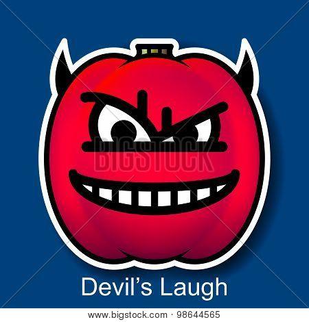 Vector Halloween Smiley Devil's Laugh