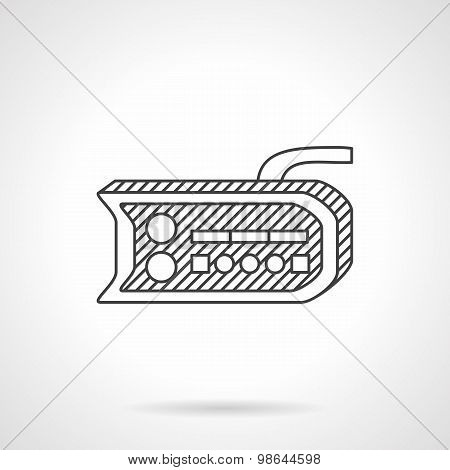Bike dashboard line vector icon