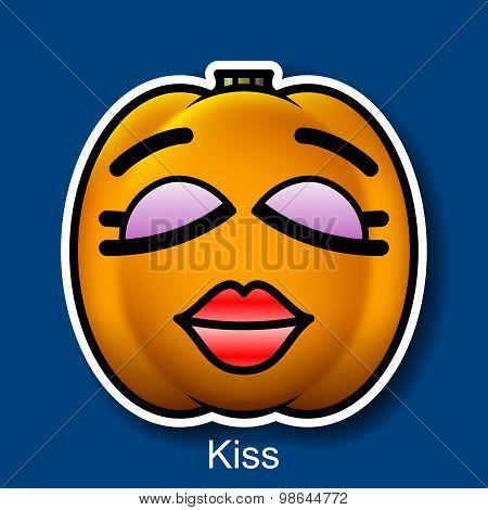 Vector Halloween Smiley Kiss