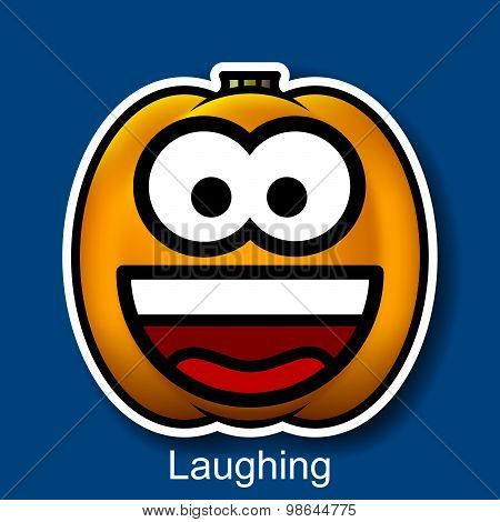 Vector Halloween Smiley Laughing